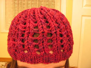 Ribbed Lace Hat 2