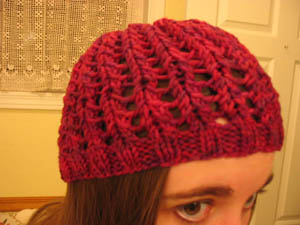 Ribbed Lace Hat 3