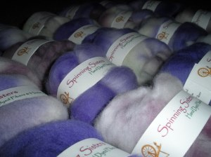 Closeup of 'Mini Roving Batts'