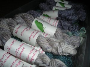 Hand Spun Samples from Melissa's Kre8tions