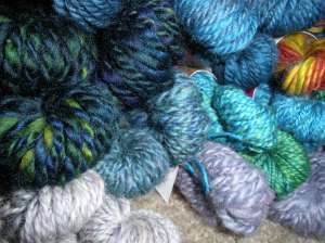 Here is a closeup of my hand spun samples