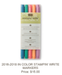2016-2018 In Color Stampin' Write Markers