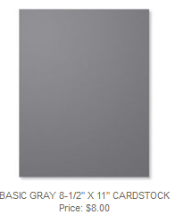 Basic Gray Cardstock