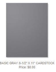 Basic Gray Cardstock