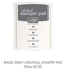 Basic Gray Stampin' Pad