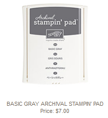 Basic Gray Stampin' Pad