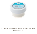 Clear Emboss Powder 109130