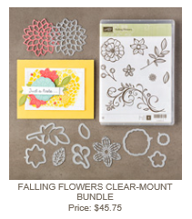 Falling Flowers Clear Mount Bundle