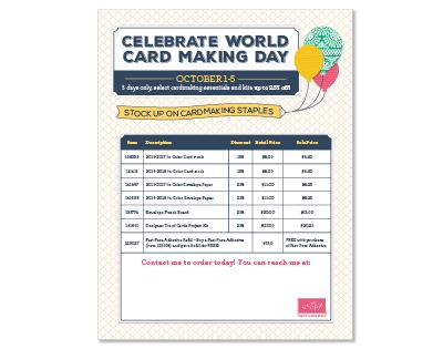 World Card Making Day Sale