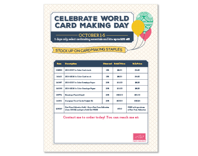 World Card Making Day Sale